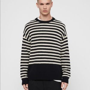 All Saints Small Striped Wool Sweater Keet Crew